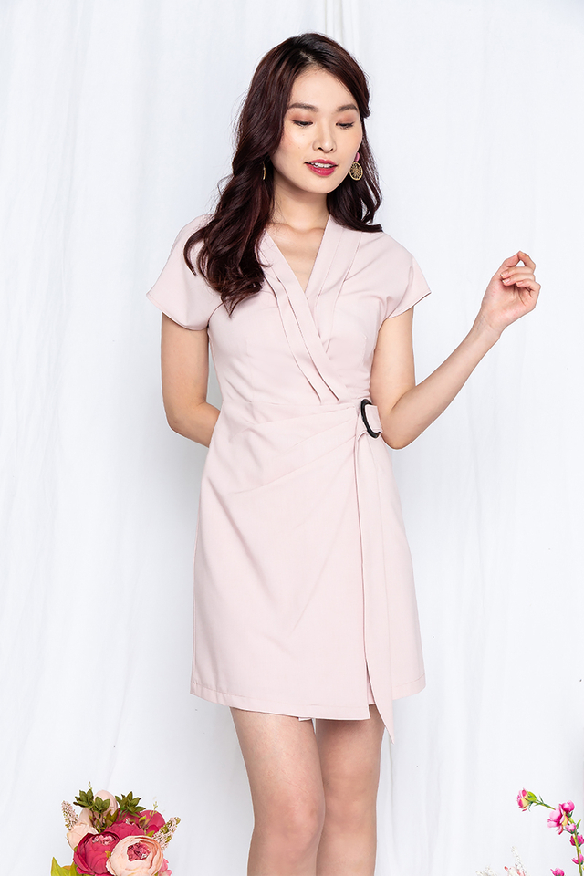 Suit Up Dress in Nude Pink